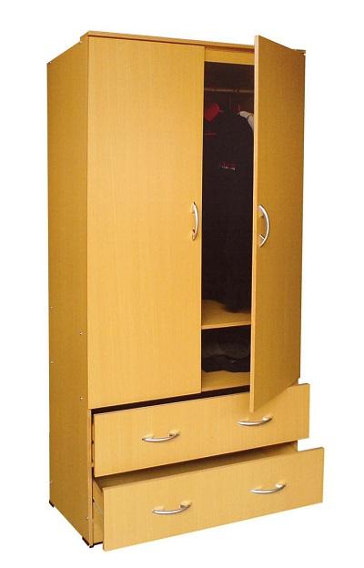 Lemari Pakaian 2 Pintu Hadir Dengan Desain Sederhana Dan ...