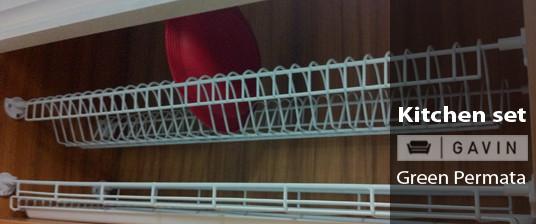 Pin kitchen set hpl hijau on pinterest for Harga pasang kitchen set