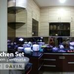 Contoh kitchen set dapur bersih kediaman Ibu Rosa di Pos Pengumben