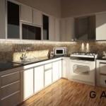Kitchen cabinet american style untuk klien cibubur for Bikin kitchen set