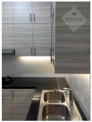 interior kitchen set minimalis modern gavin serpong