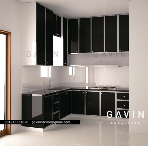 Gaj0romar1ogifs 3 kitchen set minimalis cat duco klien for Kitchen set hitam