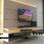 Pembuatan Backdrop TV untuk klien Green Andara Jaksel