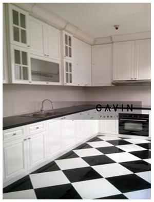 kitchen set minimalis dapur kotor cibubur