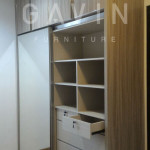 Pembuatan lemari pakaian custom untuk klien di Greenlake Jakarta Barat