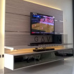 Backdrop TV Bahan HPL Green Andara Jakarta Selatan
