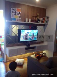 Backdrop Tv Kombinasi HPL Dan Duco Pak Rama Di Pakubuwono Jaksel
