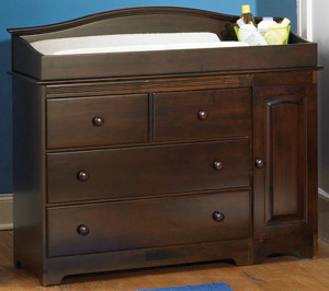 baby changing table dresser bahan kayu