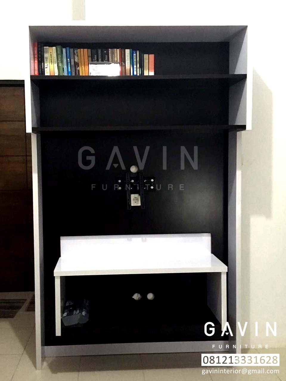 Backdrop tv di cipayung kitchen set minimalis lemari for Kitchen set hpl putih
