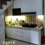 Model Kitchen Set Minimalis Bawah Tangga Klien Cibodas