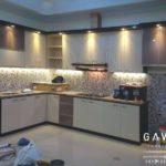 pembuatan kitchen set minimalis hpl by gavin