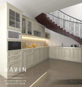 Q2426 kitchen set design semi klasik by gavin furniture