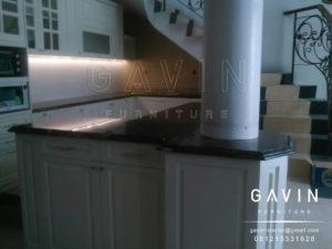 Q2426 kitchen set design semi klasik finishing duco