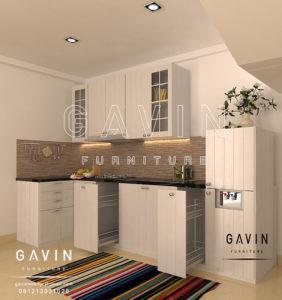 Q2560 design dan spesifikasi kitchen set