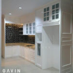 Q2535 kitchen klasik putih finishing semi klasik semi glossy