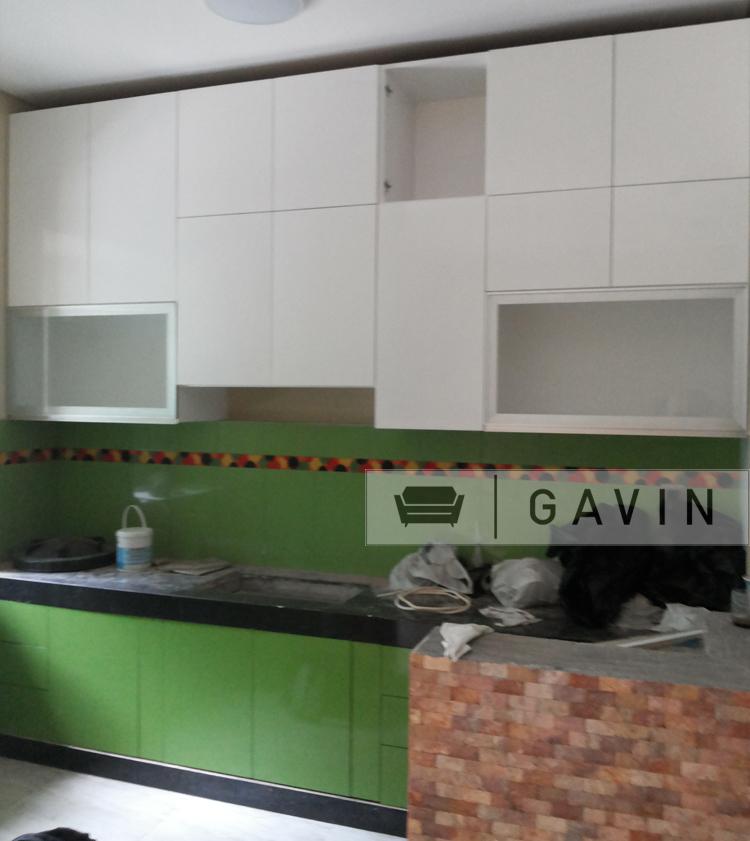 Kitchen set bersih cilandak gavin kitchen set for Lemari kitchen