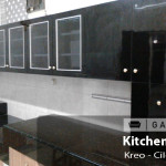 kitchen set hpl glossy ciledug - gavin