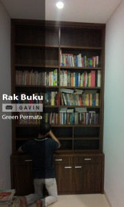 rak buku built in-gavin