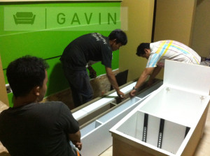 pemasangan cabinet tv-gavin furniture