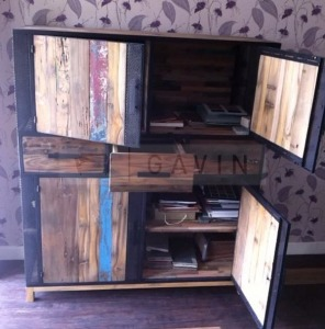 rustic cabinet from scrap wood indonesia