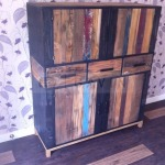 vintage rustic cabinet from scrap wood indonesia