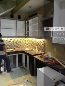 pembuatan kitchen set minimalis bintaro