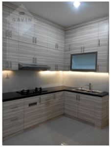 design kitchen set minimalis modern serpong gavin