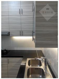 interior kitchen set minimalis modern gavin serpong