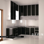 3D design Kitchen set minimalis duco PIK