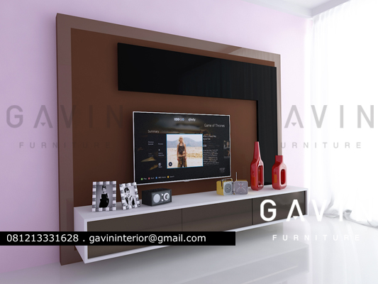 3d backdrop tv green andara jaksel