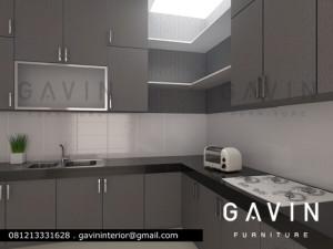 desain 3D kitchen set project semanan jakbar