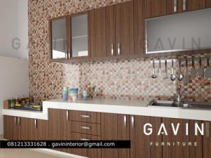 kitchen set 3D desain pondok indah