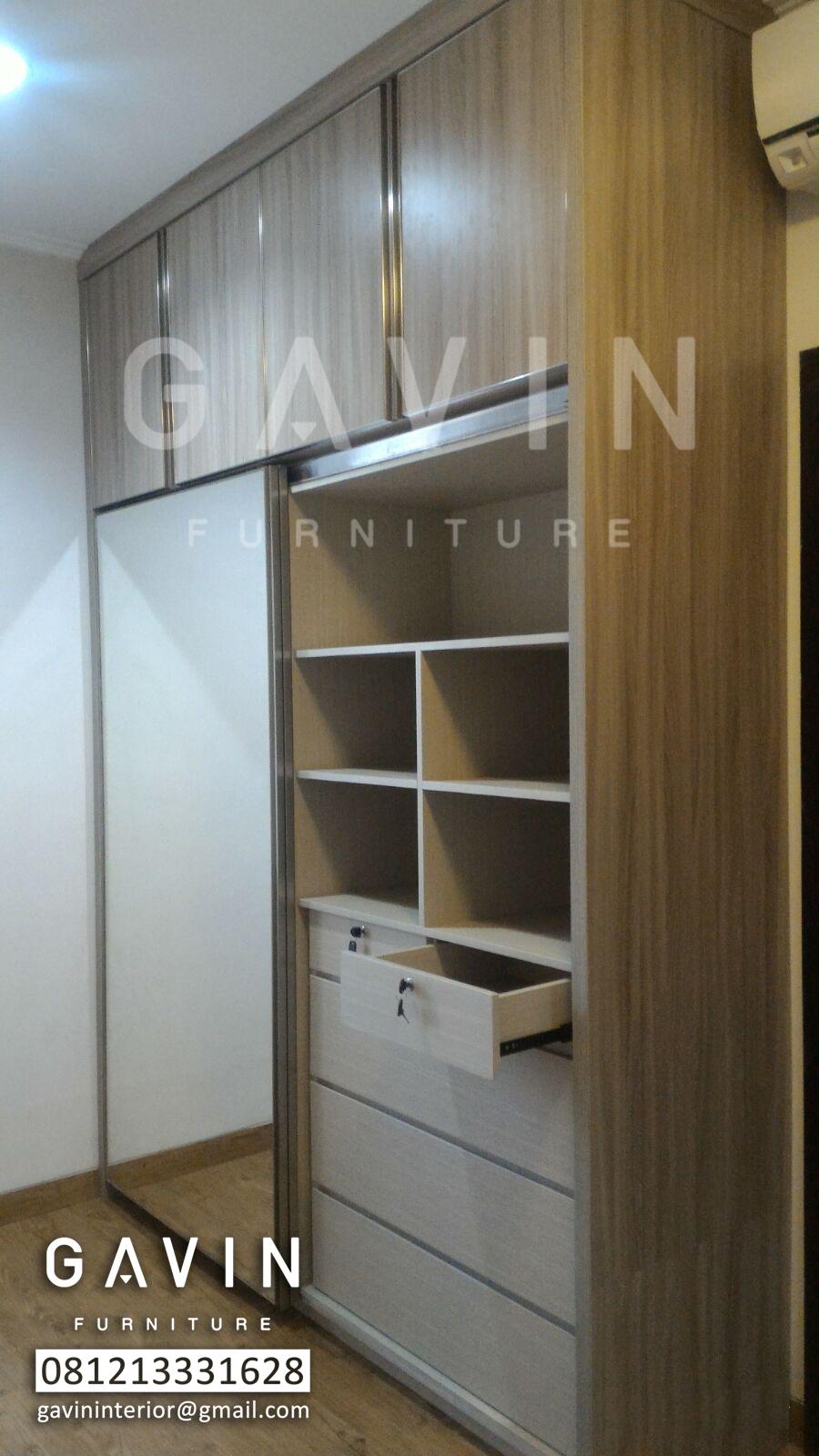 Lemari pakaian di greenlake kitchen set minimalis for Lemari kitchen