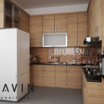 3D interior dapur rossi gavin