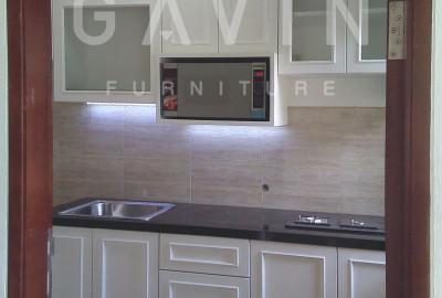Kitchen Set Duco Putih Klien Graha Bintaro