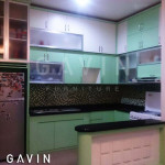 Kitchen Set Minimalis Warna Hijau By Gavin Furniture