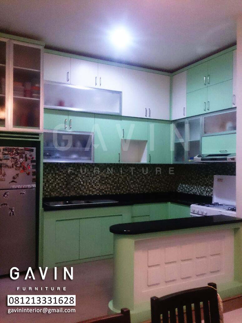 Kitchen Set Minimalis Warna Hijau By Gavin Furniture Kitchen Set