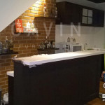 Model Kitchen Set Minimalis Dengan Minibar Finishing Duco Di Karawaci