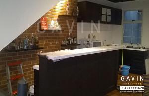 Model Kitchen Set Minimalis Dengan Minibar Finishing Duco Di Karawaci