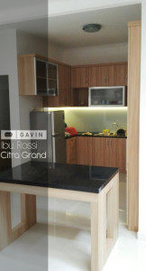 Harga Kitchen Set Finishing HPL Klien Di Citra Grand Cibubur