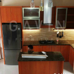 Model Kitchen Set HPL Warna Coklat
