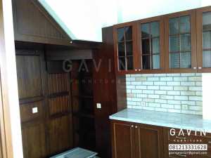 Kitchen set semi klasik finishing melanic