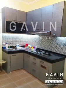 kitchen set minimalis graha raya bintaro by gavin