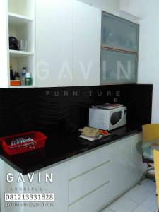 kitchen set minimalis hpl putih klien tanah abang