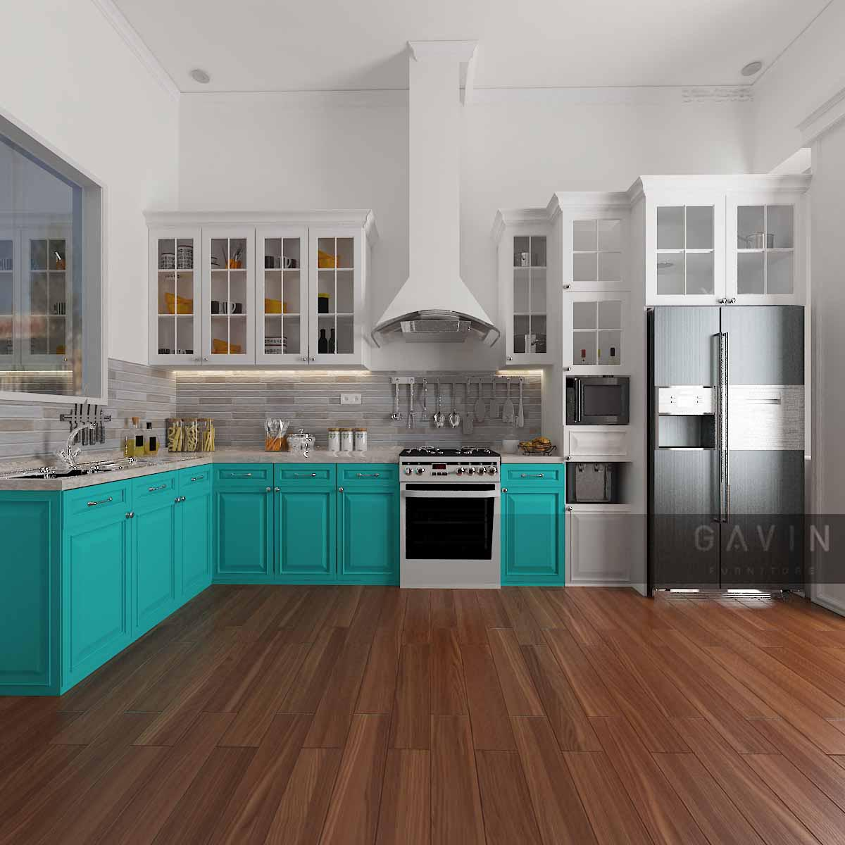 Desain-3-dimensi-kitchen-set-finishing-duco