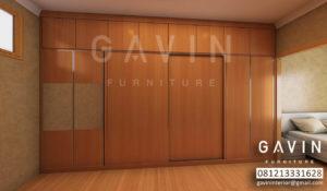 desain lemari pakaian sliding 4 pintu