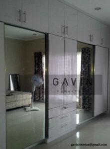 lemari sliding kombinasi cermin