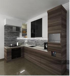 Project Design Kitchen Set Minimalis Di Menteng Jakarta Pusat