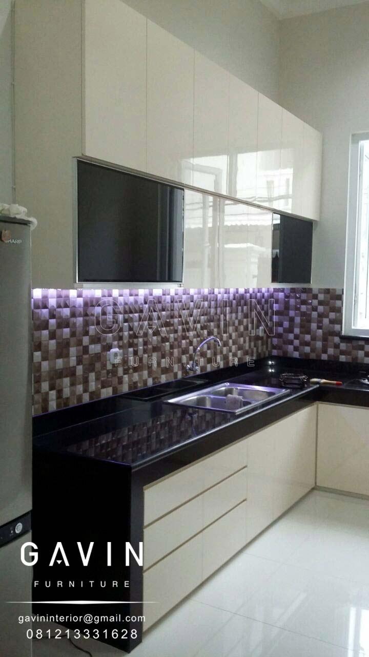 Kitchen Set Design Minimalis Letter L Di Sunter Kitchen Set