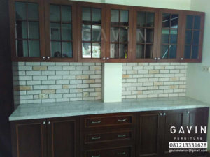 contoh kitchen set finishing melamik